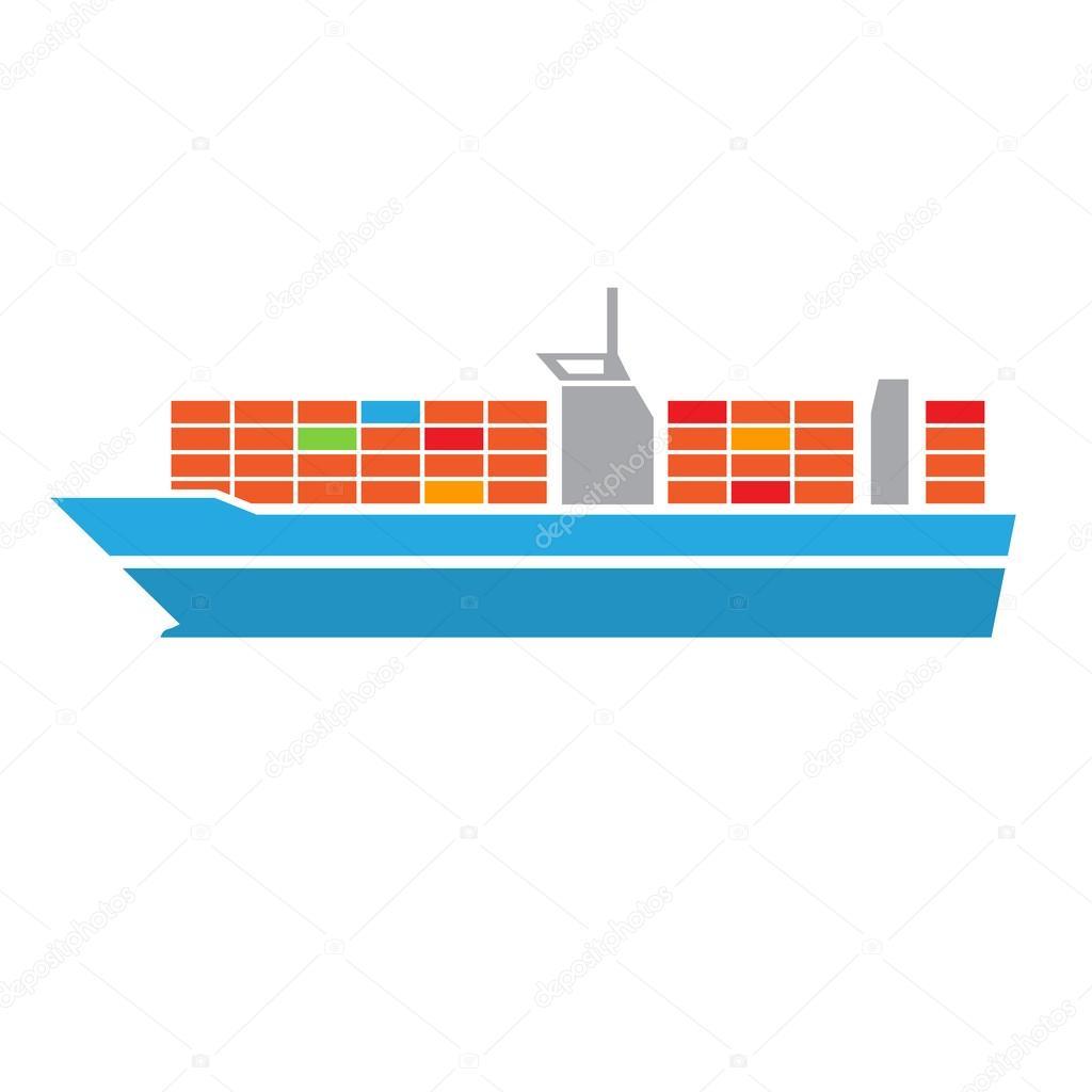 Ic ne de transport porte conteneurs image vectorielle for Porte conteneur