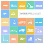 Transportation icons set — Stock Vector #68580581
