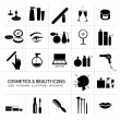 Cosmetics and beauty icons set — Stock Vector #68581035