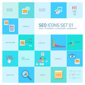 Seo icons set — Stockvector