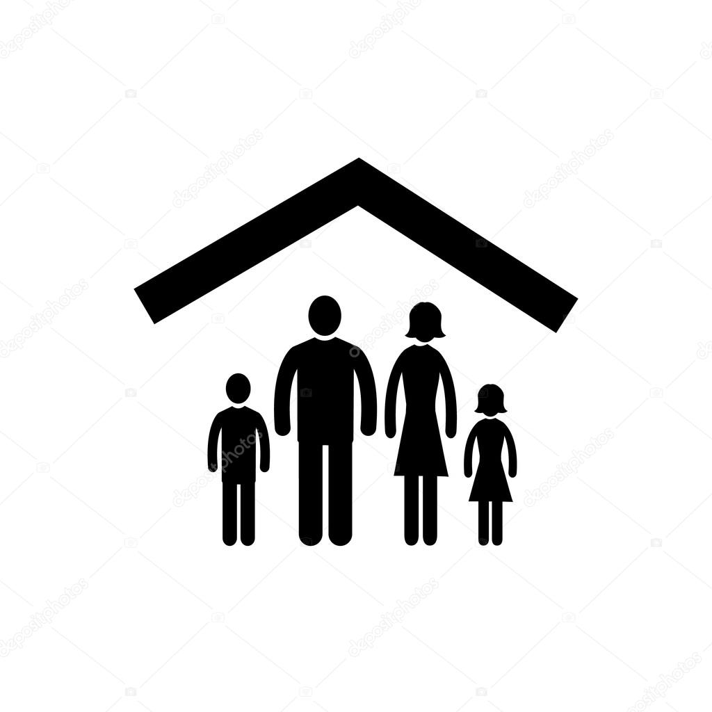 Family At Home Icon Stock Vector 169 Honzahruby 68580955