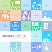 Design business icons — Vettoriale Stock