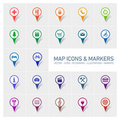 Icons markers set — 图库矢量图片