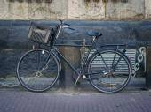Tipical bicycle on Amsterdam street. — Stock Photo
