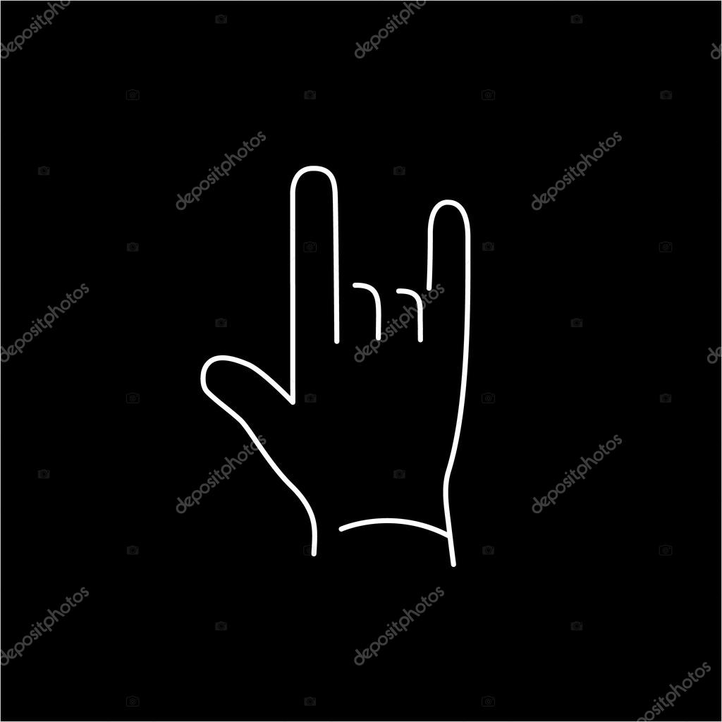 Icon of Rock Hand Gesture