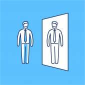 Vector self confidence skills icon — Stock Vector