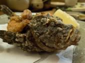 Deep fried Japanese stonefish — Stock Photo