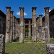 Stone columns in the main courtyard of a house in Pompeii — Stock Photo #73970941