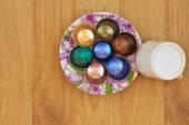 Overhead view of coffee capsules — Stock Photo