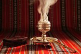 Bukhoor is usually burned in a mabkhara in many Arab countries — Stock Photo