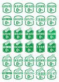 Multi Language Gluten Free Icon Set — Vector de stock