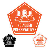 No Added Preservatives Icon — Stock Vector