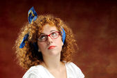 Funny red-haired girl — Stock Photo