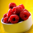 Freshly picked ripe red raspberries — Stock Photo #57213937