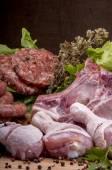 Raw mixed meat — Stock Photo