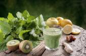 Detox drink with nettles — Stock Photo