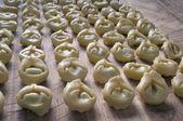 Tortellini from Emilia freshly brewed — Stock Photo