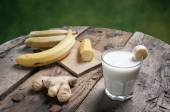 Banana Smoothie with ginger — Stock Photo
