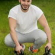 Young athletic male mode — Stock Photo #67917453