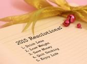 2015 Resolutions — Stock Photo