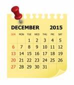2015 Calendar- December — Vector de stock