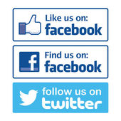Icono de Facebook — Vector de stock