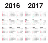 2016 And 2017 Small Printable Calendar | Calendar Template 2016