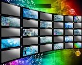 Tv wall — Stock Photo