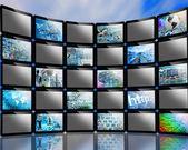 Many screens — Stock Photo