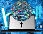 Teknik och mänskligheten — Stockfoto