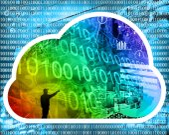 Internet cloud — Stock Photo