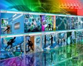 Web wall — Stock Photo