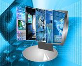 Monitor screen — Стоковое фото