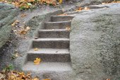 A stone staircase leading up — Stock Photo