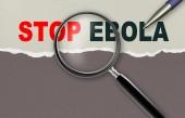 Stop ebola — Stockfoto