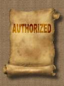 Authorized — Stock Photo