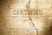 Certifierade — Stockfoto
