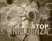 STOP INFLUENZA — Stock Photo