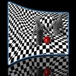 Black end white checkered man — Stock Photo #77106213
