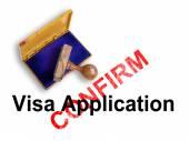 Visa Application — Stock Photo