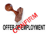 Offer of employment - confirm — Stock Photo