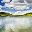 Beautiful summer landscape with Calcescu lake — Stock Photo #55319477