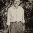 Monochrome portrait of a senior farmer — Stock Photo #59319301