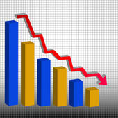 Colored bar graph — Stock Vector