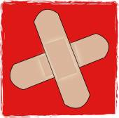 First aid cross — Stock Vector