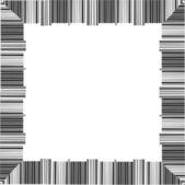 Border made from barcodes — Stockvector