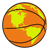 Orange basketball — Stock Vector