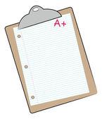 Clipboard with graph paper — Cтоковый вектор