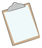 Clipboard with graph paper — Stock Vector