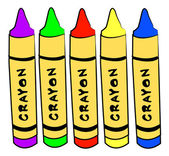 Crayons isolated — Stock Vector